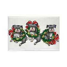 Schnazuers in Wreaths Rectangle Magnet