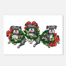 Schnazuers in Wreaths Postcards (Package of 8)