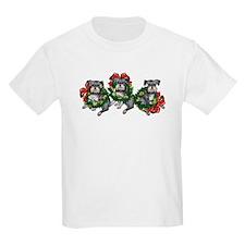 Schnazuers in Wreaths Kids T-Shirt
