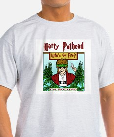 Harry Pothead Ash Grey T-Shirt