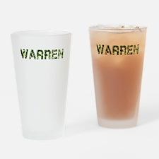 Warren, Vintage Camo, Drinking Glass
