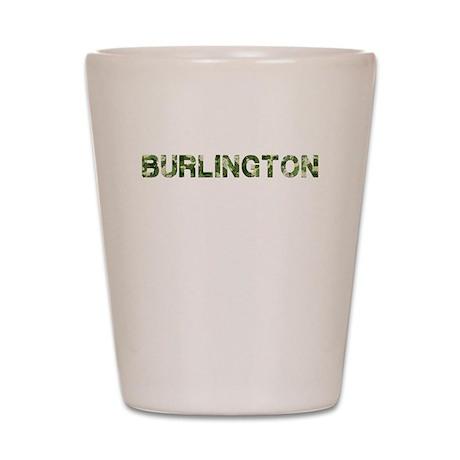 Burlington, Vintage Camo, Shot Glass