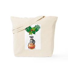 Schnauzer on Ornament Tote Bag
