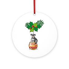 Schnauzer on Ornament Ornament (Round)