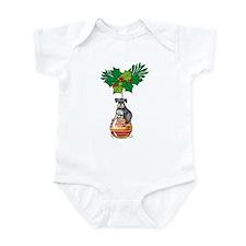 Schnauzer on Ornament Infant Bodysuit