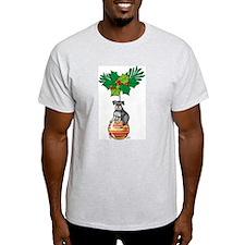 Schnauzer on Ornament Ash Grey T-Shirt