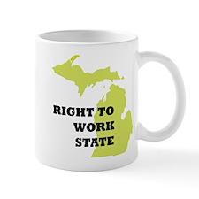 Right To Work State Michigan Mug