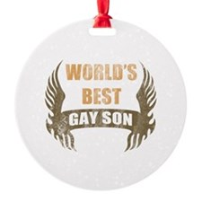 World's Best Gay Son (Wings) Ornament
