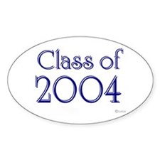 Class of 2004 Oval Decal