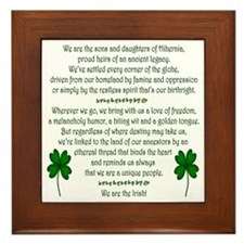 'We Are The Irish' Framed Tile