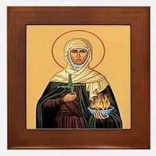 St. Brigid of Ireland Framed Tile