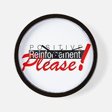 Positive reinforcement.png Wall Clock