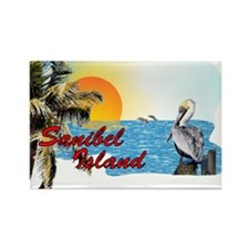Sanibel Sunset Scene Rectangle Magnet
