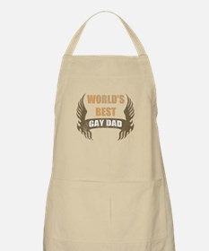 World's Best Gay Dad (Wings) Apron