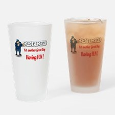 Cute Retired occupation Drinking Glass