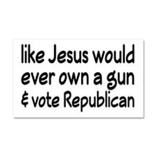 Jesus Wouldn't Own A Gun Car Magnet 20 x 12
