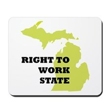 Right To Work State Michigan Mousepad
