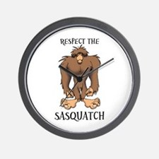 RESPECT THE SASQUATCH Wall Clock