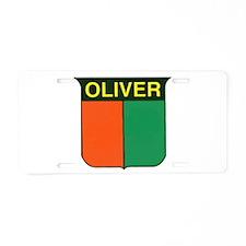 Cute Oliver Aluminum License Plate