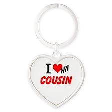 I love my Cousin Heart Keychain