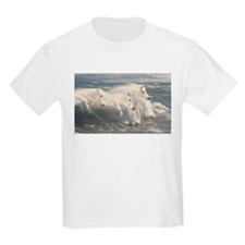 White Horses And Waves T-Shirt
