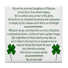 'We Are The Irish' Tile Coaster