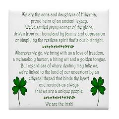 'We Are The Irish' Tile Coaster