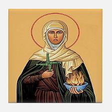 St. Brigid of Ireland Tile Coaster