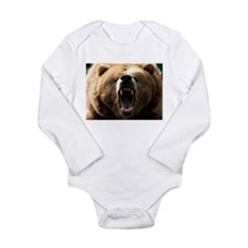 Grizzzly Long Sleeve Infant Bodysuit