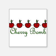 "Cherry Bomb Square Sticker 3"" x 3"""