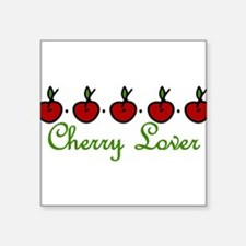"Cherry Lover Square Sticker 3"" x 3"""