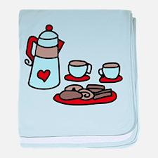 Coffee Talk baby blanket