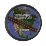 Eclipse 2017 - Be There! Large Wall Clock