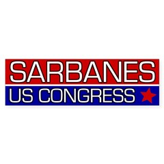 John Sarbanes for Congress bumper sticker
