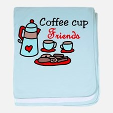 Coffee Cup Friends baby blanket
