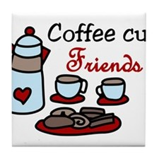 Coffee Cup Friends Tile Coaster
