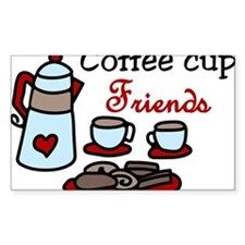 Coffee Cup Friends Decal