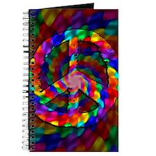 Peace Sign, Tie Dye Journal