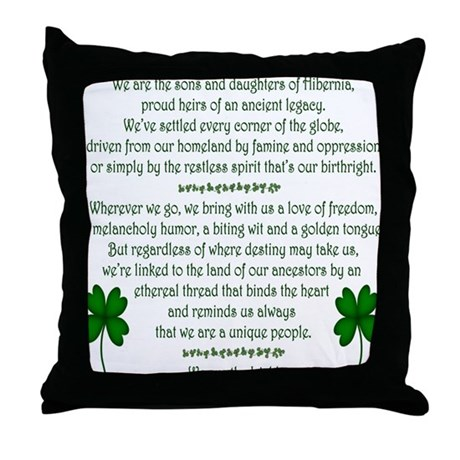 We Are the Irish Throw Pillow
