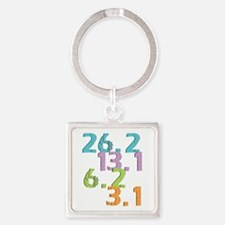 runner distances Square Keychain