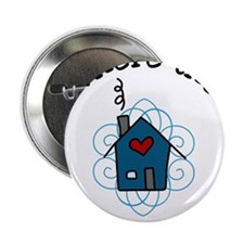 """The Heart Is 2.25"""" Button"""