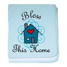 Bless This Home baby blanket