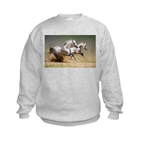 White horses Kids Sweatshirt