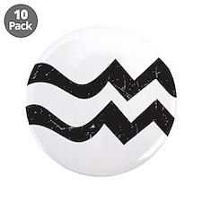 """Aquarius Symbol 3.5"""" Button (10 pack)"""