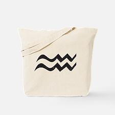 Aquarius Symbol Tote Bag