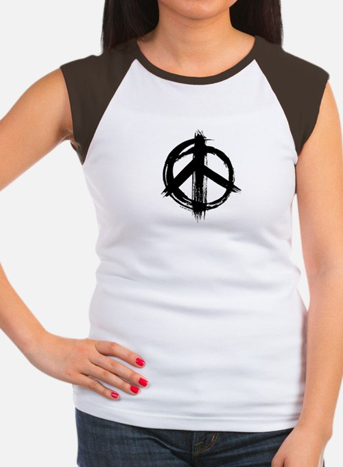 Peace Sign Women's Cap Sleeve T-Shirt