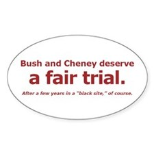 Fair Trial Oval Decal