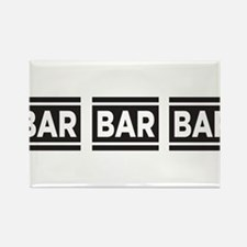 BAR BAR BAR Rectangle Magnet