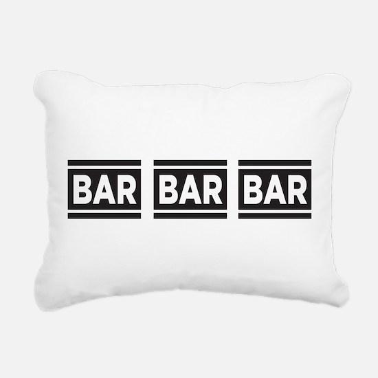 BAR BAR BAR Rectangular Canvas Pillow