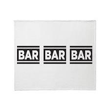 BAR BAR BAR Throw Blanket
